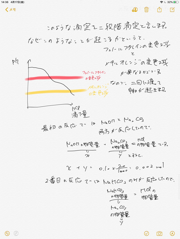 滴定 二 段階 中和滴定まとめ(原理・実験レポート考察・器具や指示薬)